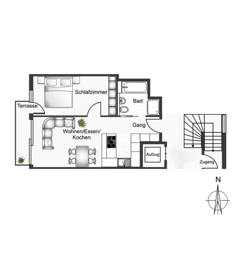 Wohnung D Hren on